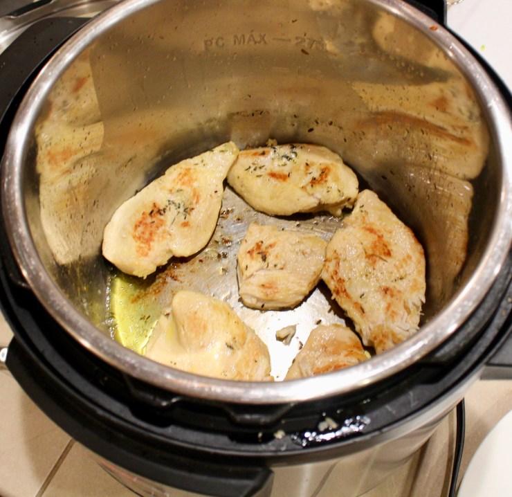 sautéing in instant pot
