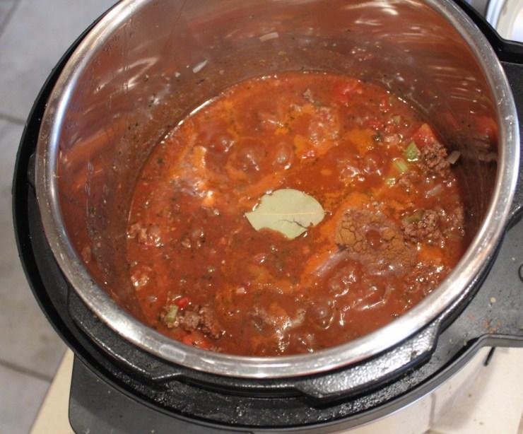 meat sauce - instant pot
