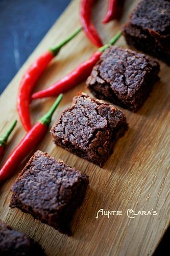 Auntie Clara's Chili-Chocolate Brownies