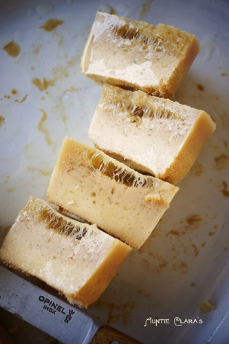 Overheated milk & honey soap