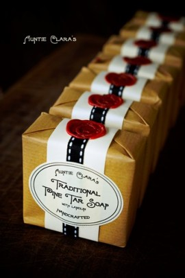 Traditional Pine Tar Soap by Auntie Clara's