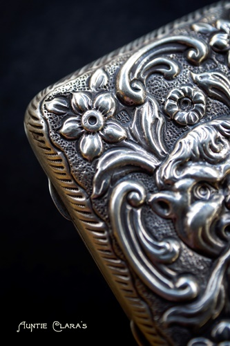 Silver cigarette case by Samuel Jacob, 1887, London