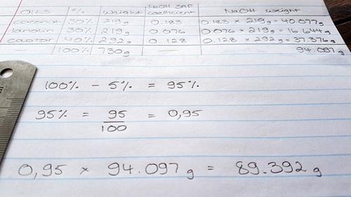 Lye Calculation