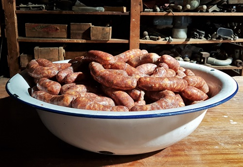 Beautiful pork sausage