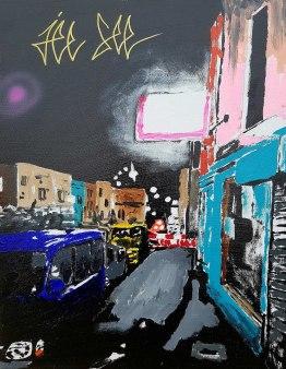 Acrylic on canvas Urban Landscape