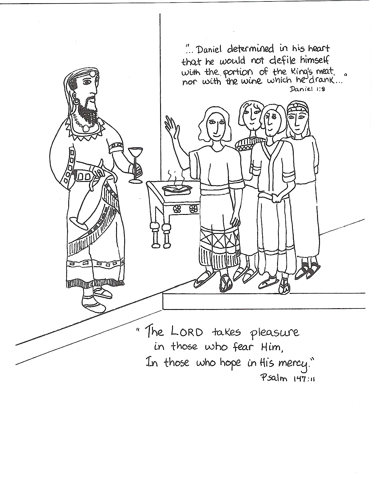 Daniel Stands Firm Coloring Page Coloring Pages