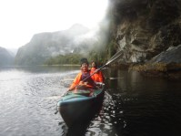 It was fun to kayak through the curtain!