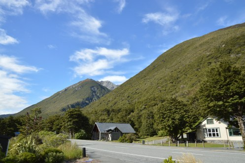 Morning view from my place in Arthur's Pass