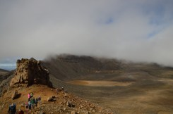 South Crater! Mt. Doom is all clouded over. You'd never know it was behind the cloud!