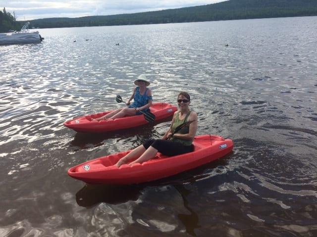 auntie stress kayaking