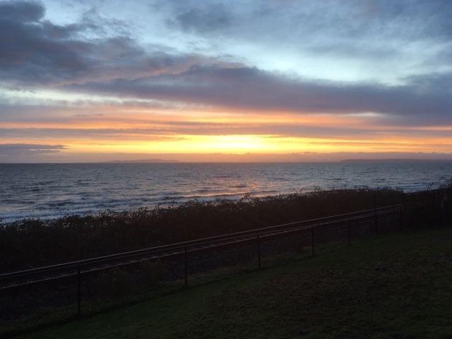 Sunset over Semiahmoo Bay.