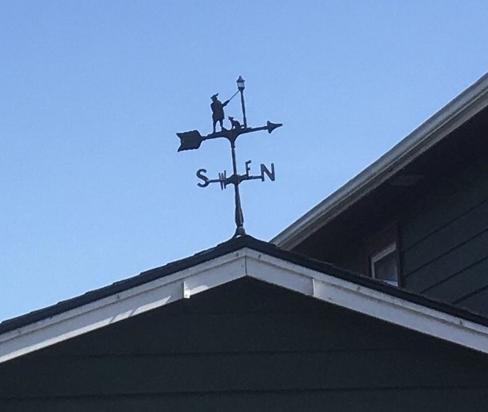 A weather vane.