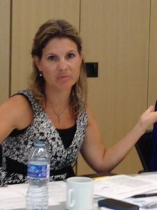 Leigh Mitchell leading the Social Media Boot Camp Panel Discussion.