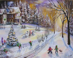 Christmas Eve Snow 16x20 2008 AL