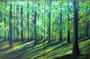 Green Sunlit Forest