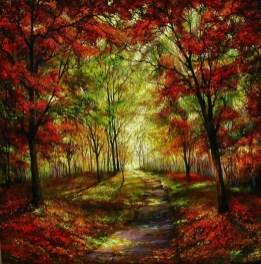 Autumn Light on the Wabash Trail