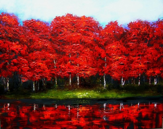 Red Forest Reflections