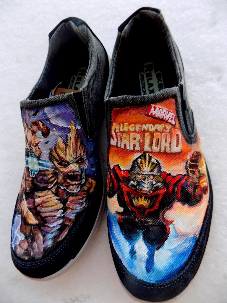 Shoe Art Fan Art Featuring Marvel Comics Nightcrawler