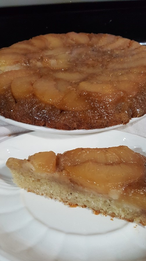Gram-gram's peach upside-down cake