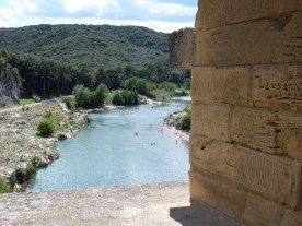 View from the Pont du Gard