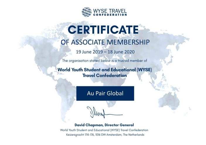 WYSE_Membership_certificate_Au_Pair_Global