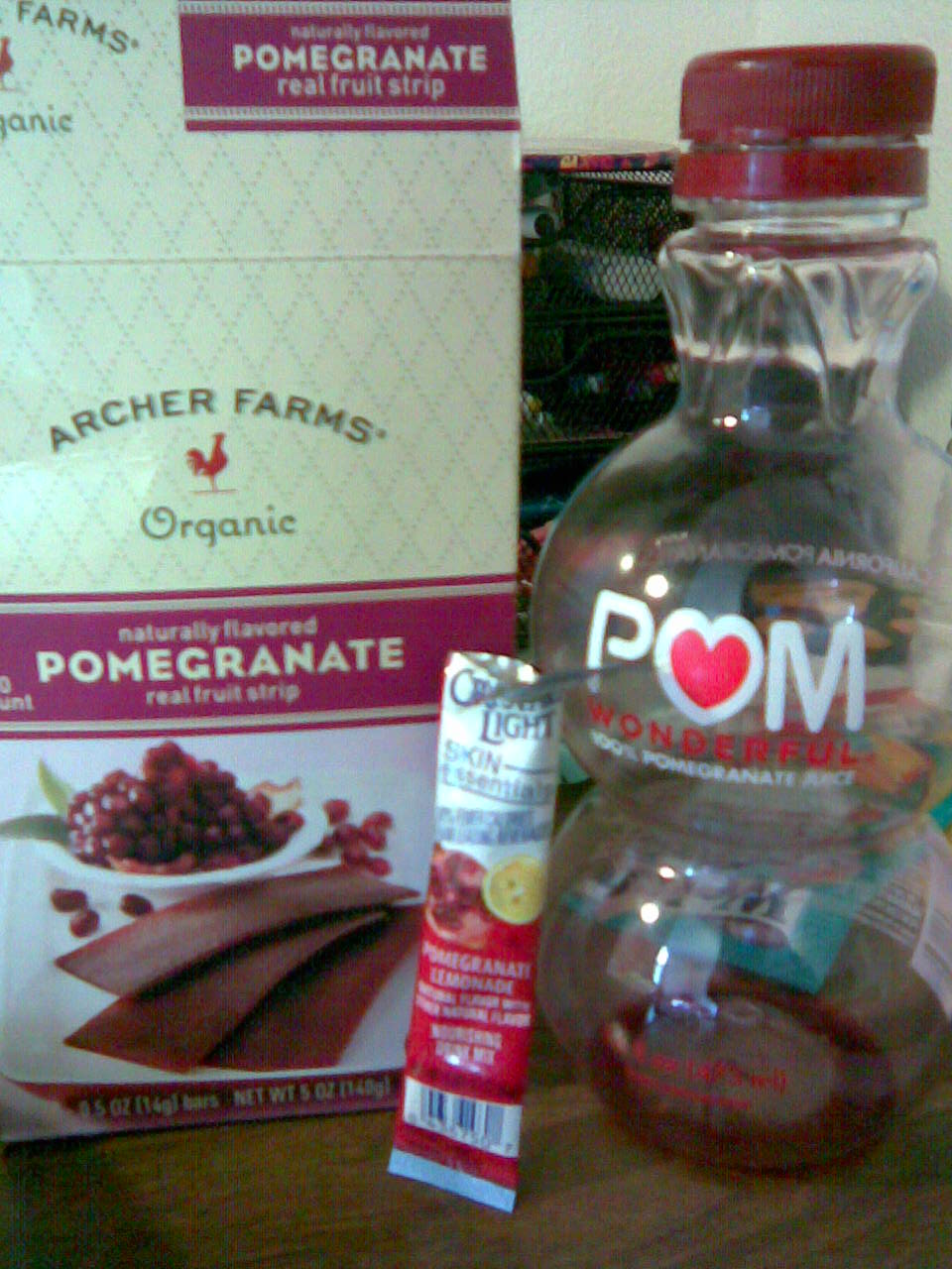 My little shrine of pomegranate food items.