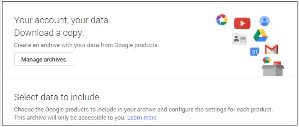 Cara Download Arsip Semua Data pada Akun Google 1