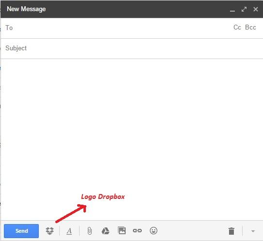 Mengirim File lebih besar denga Dropbox for gmail 3