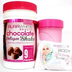 Aurawhite Chocolate Collagen Shake