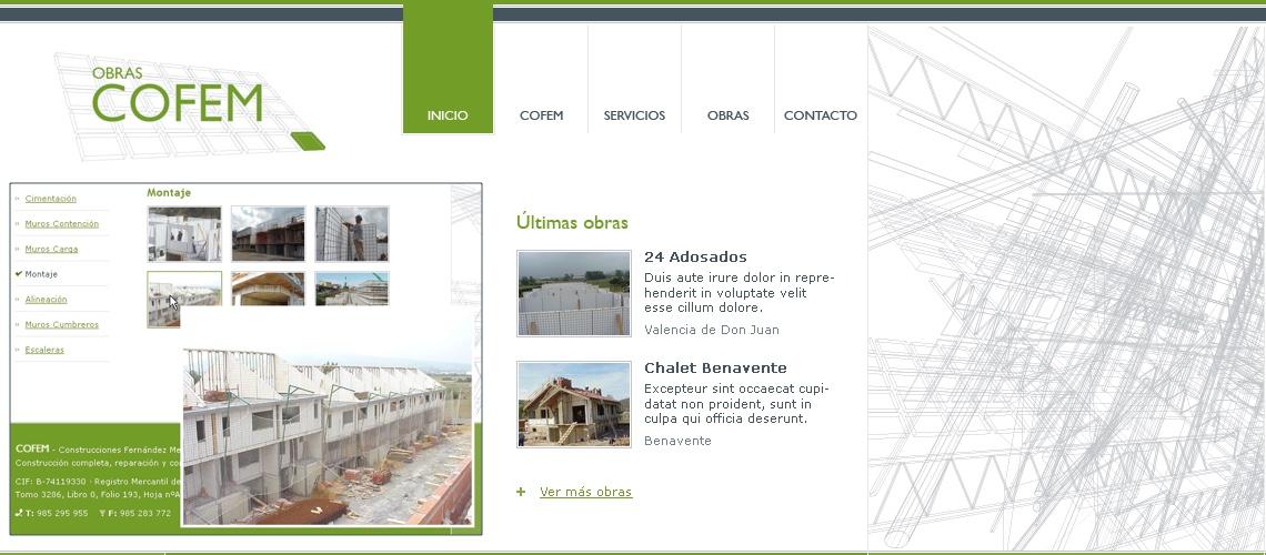 Obras COFEM, estructuras y cerramientos