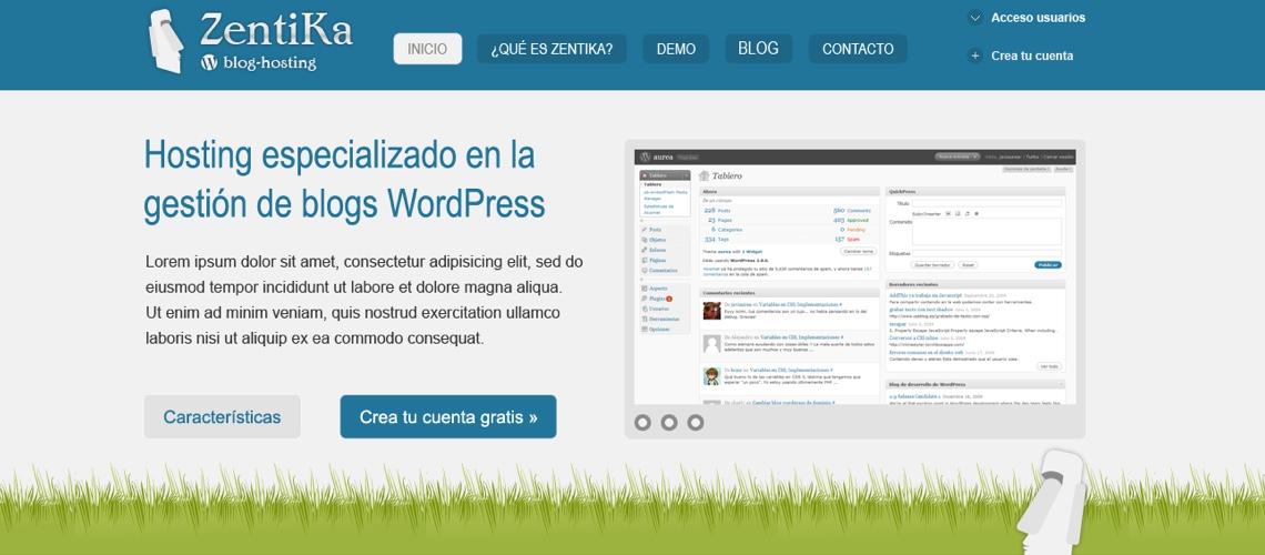 Zentika, Intranet de hosting WordPress