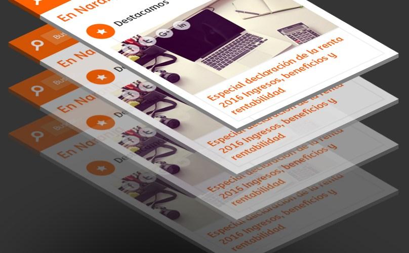 Mockups de mobile en perspectiva