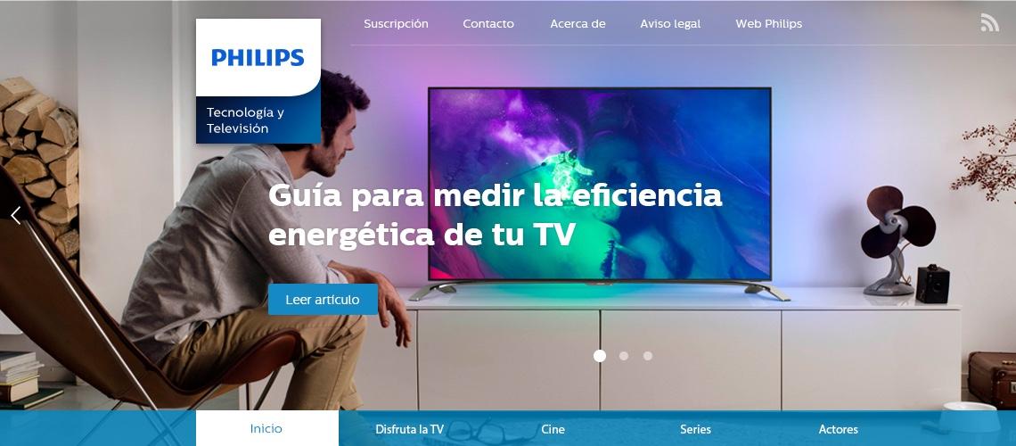Diseño de la publicación VivePhilipsTV