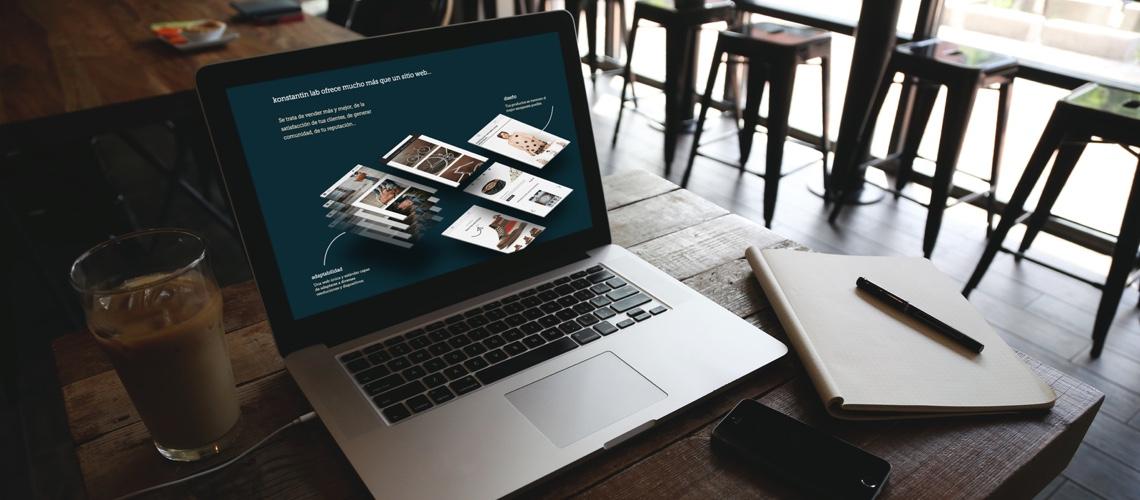 Diseño del website konstantinlab