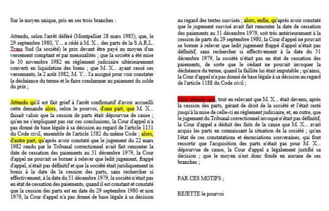 Fiche De Jurisprudence A Bamde J Bourdoiseau