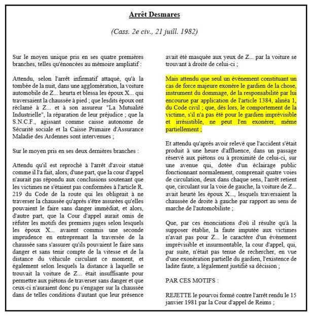 Loi Badinter Du 5 Juillet 1985 La Responsabilite Du Fait Des