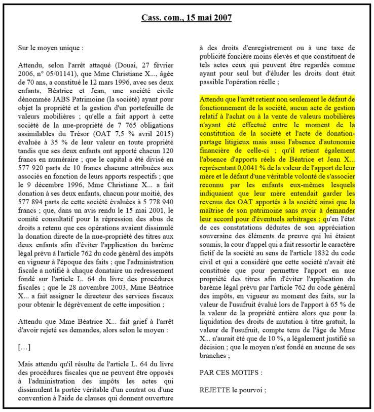 dissertation droit des sociétés affectio societatis
