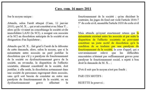 L'affectio societatis | A  Bamdé & J  Bourdoiseau