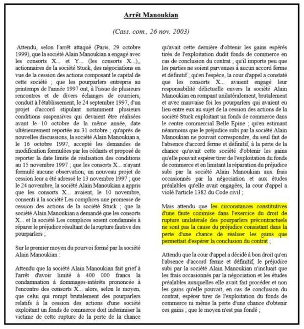 47c3b84aaa1 Liberté et rupture des négociations  régime juridique des ...