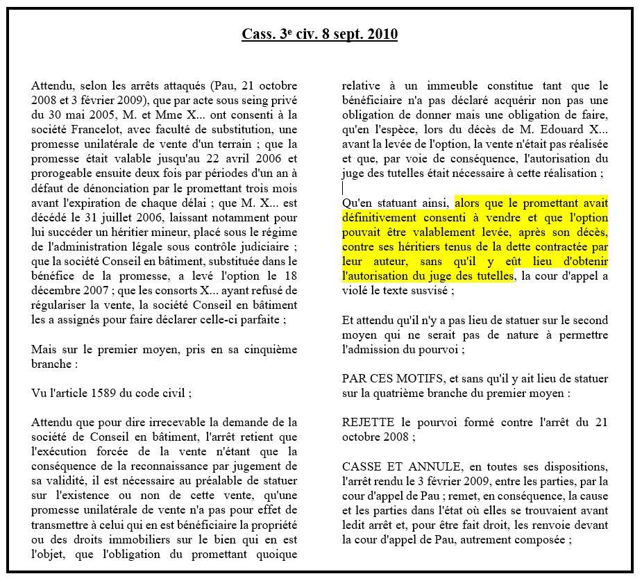 dissertation force obligatoire promesse unilatérale de vente