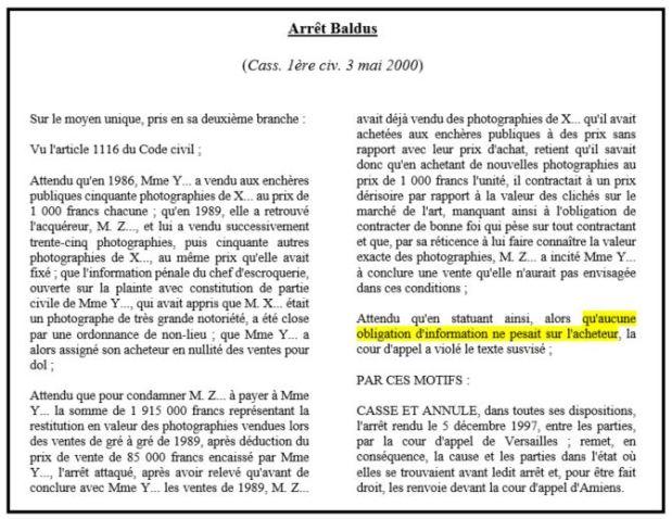 Reticence Dolosive Et Reforme Des Obligations A Bamde J