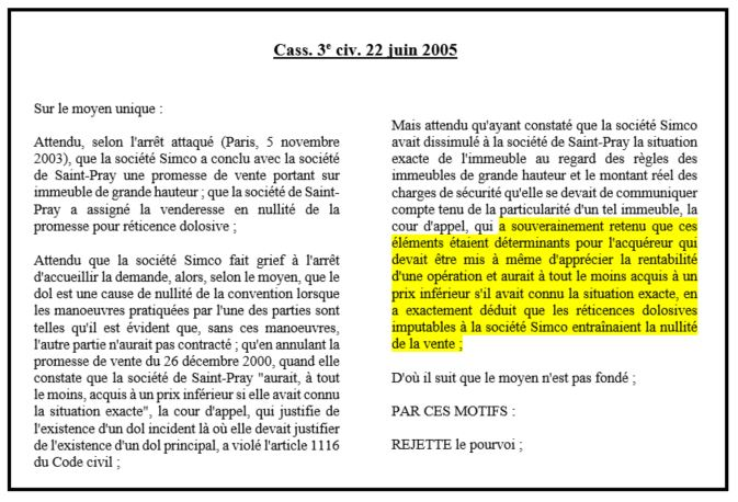 Le dol notion l ments constitutifs et r forme des - Article 673 du code civil ...