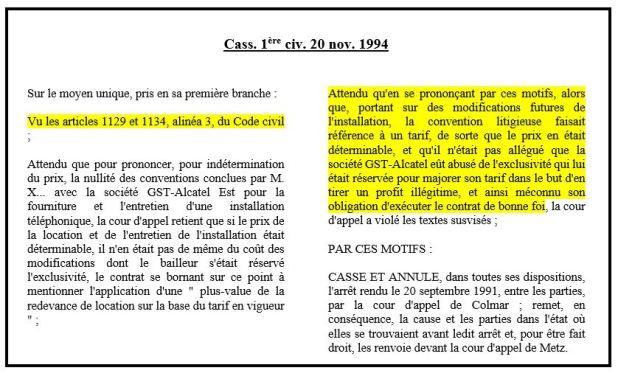 L Exigence De Determination Du Prix Et La Reforme Des Obligations