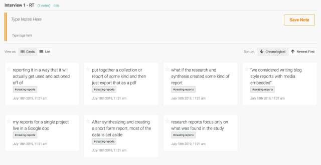 Aurelius user research repository - notes