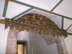 """Entrance to the choir loft. """"Terribilis est..."""" is written"""