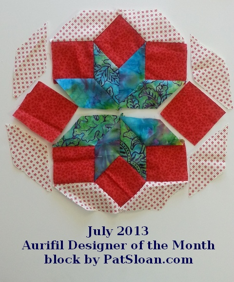 Pat Sloan July 2013 Aurifil block