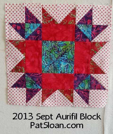 pat sloan 2013 sept aurifil block
