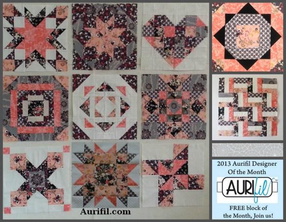 2013 aurifil jan to Nov blocks