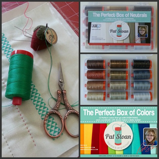 pat sloan aurifil threads