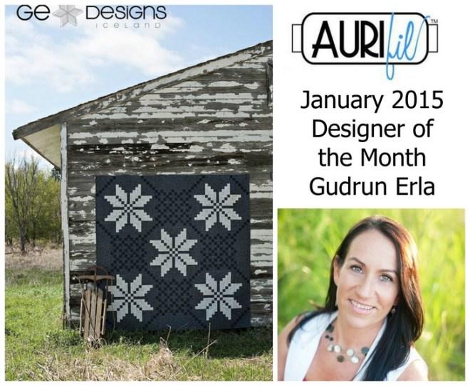 Aurifil January 2015 Designer of the Month Gudrun Erla